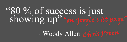 80% of success is just showing up.